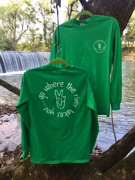 "River hippie ""Go Where The River Takes You"" Long Sleeve Shirt"
