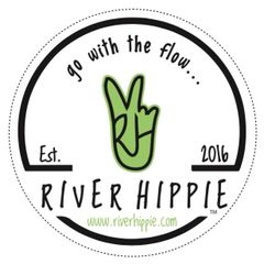 "River Hippie Decal (4""X4"" Circle)"