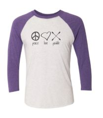 """Peace Love Paddle"" Baseball Shirt"
