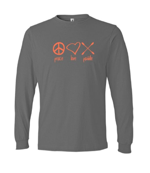"""Peace Love Paddle"" Long Sleeve"