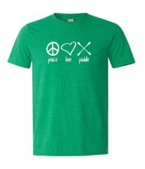 """Peace Love Paddle"" T-Shirt"