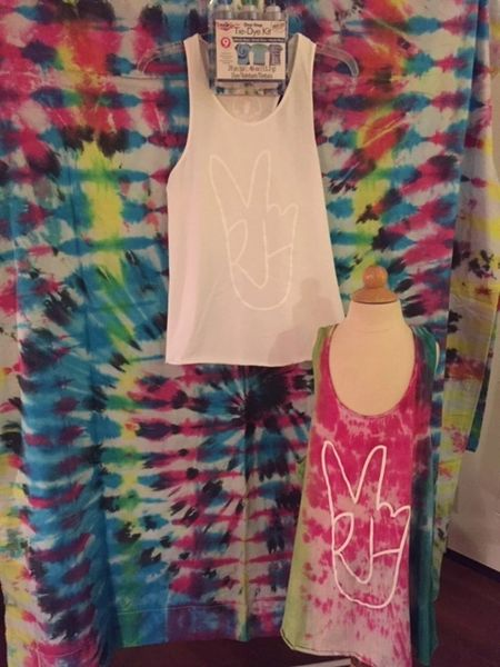 """Hand"" Tank (White on White... Leave alone or TIE DYE)"