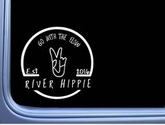 River Hippie Decal (6 inches wide)