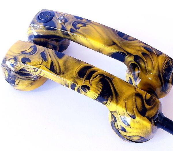 Continuity Test Phones - Yellow Grin Skulls