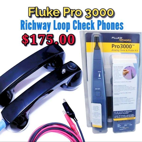 Fluke Pro 3000 Tone Generator and Continuity Test Phones