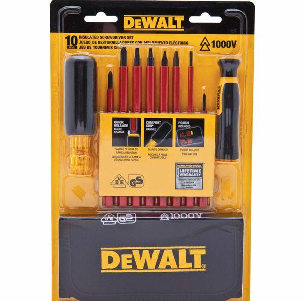 1000v Insulated Screwdriver Set DWHT66417