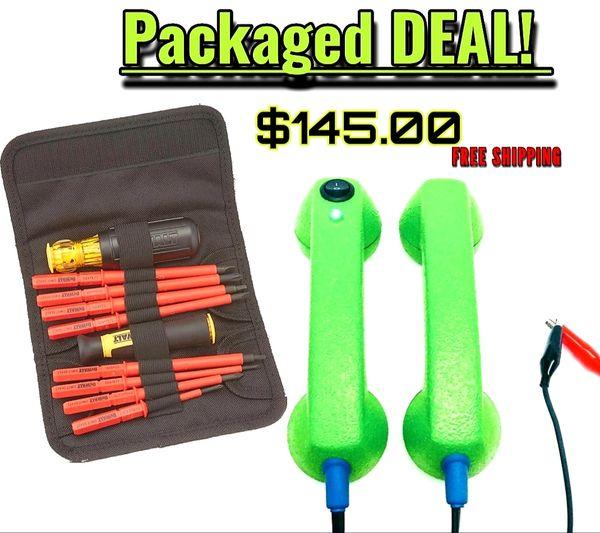 Packaged Deal- Continuity Test Phones & Dewalt 1000v insulated screwdriver set