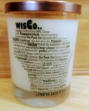 Kettle Moraine Forest Candle with Wisco Lingo