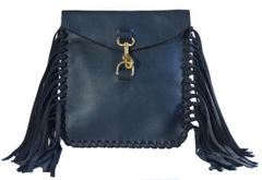 Small Side Fringe Oil Tanned Crossbody
