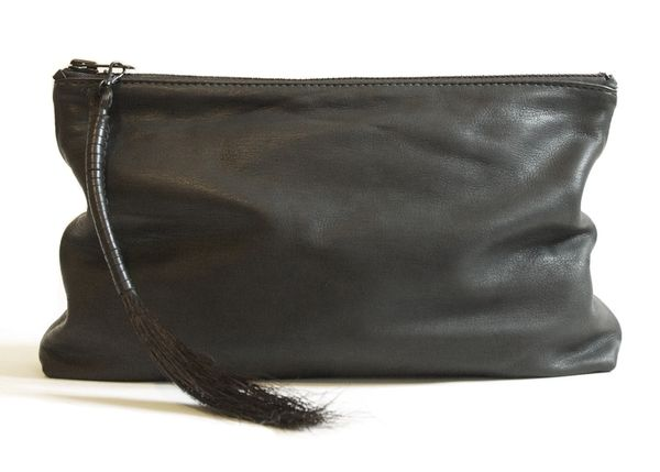 Oversized Deerskin Clutch