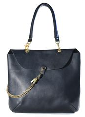 Oil Tanned Tote with Chain
