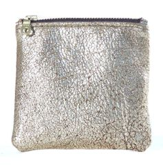 Gold Square Pouch