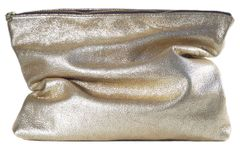 Gold Crackle Clutch