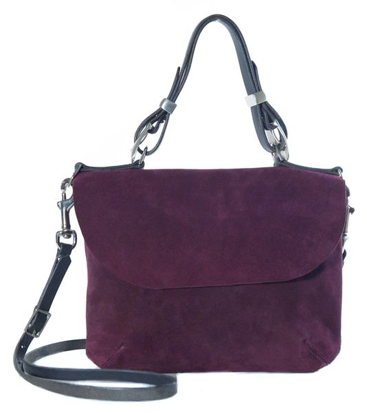 Purple Suede Crossbody