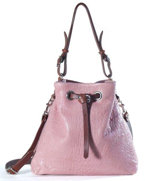Lambskin Bucket Bag- Pink