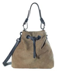 Deerskin Suede Bucket Bag