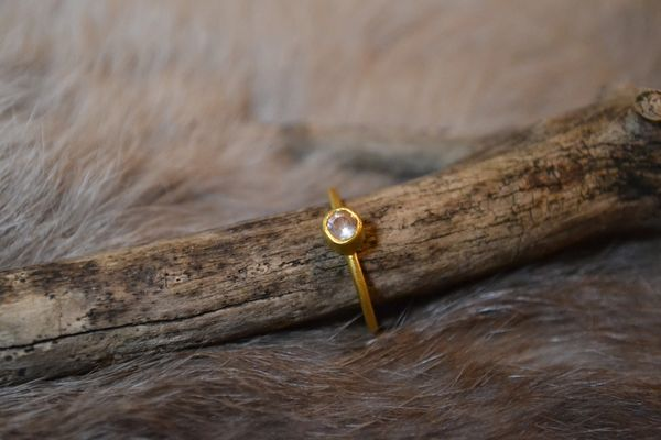 Oregon Sunstone- 24k Gold