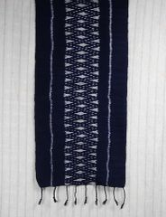 Indigo IKat Cotton Scarf