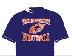 Wildhawks DriFit Football T-Shirt