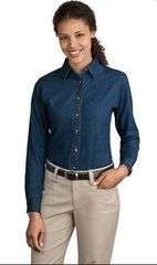 Ladies Denim Long sleeve shirt