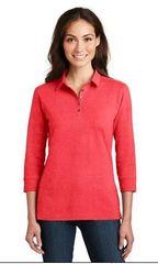Ladies Cotton 3/4 sleeve shirt