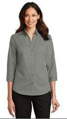 Ladies Twill 3/4 sleeve shirt