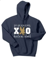 SHS Marching Hawks XO Hooded Navy Sweatshirt