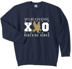 SHS Marching Hawks XO Navy No Hood Sweatshirt