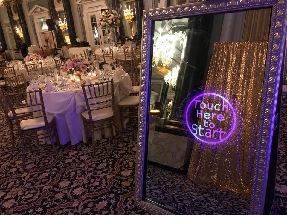 mirror photo booth for your wedding, corporate event or private event. Call today 855-526-6845