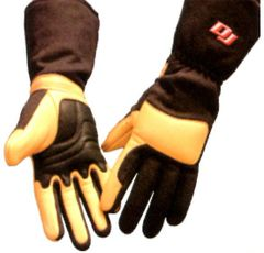 DJ SAFETY GLOVES SFI 3.3.20 FOUR LAYER BLACK/TAN S,M,L,XL
