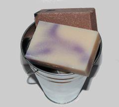 Buck Lee's Naturals Bucket Of Soap Bucket Plus (4) Natural Soap Bars