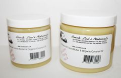 Buck Lee's Naturals Double Play Cocoa Butter & Coconut Oil Body Cream 2 Sizes