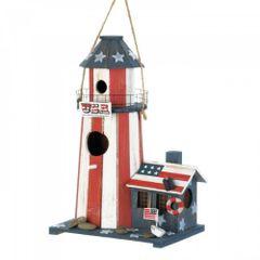 Songbird Valley Patriotic Lighthouse Birdhouse