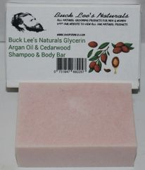 Buck Lee's Naturals Glycerin Argan Oil & Cedarwood Shampoo & Body Bar