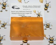 Buck Lee's Naturals Premium Honey & Moroccan Argan Oil Soap Bar