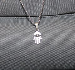 """Buck Lee's Hand Of God Pendant Sterling With 18"""" Chain"""