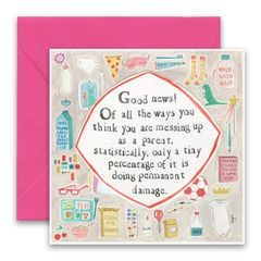 """Messing Up"" Greeting Card"