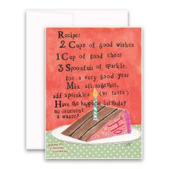 """Recipe"" Greeting Card"
