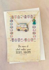 Die Cut Wood Necklace Card- Camper