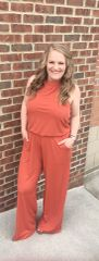 Rust Haltered Jumpsuit