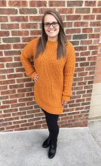 Long Cozy Cable Knit Sweater