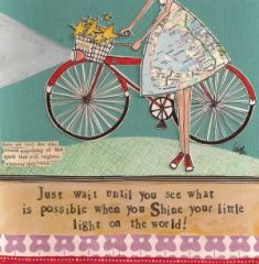 Culry Girl Greeting Card- Shine On