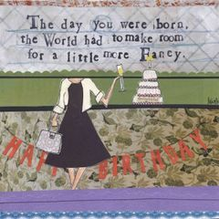 Curly Girl Greeting Card- Birthday