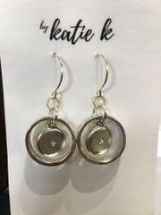 By Katie K Organic Plate Earring