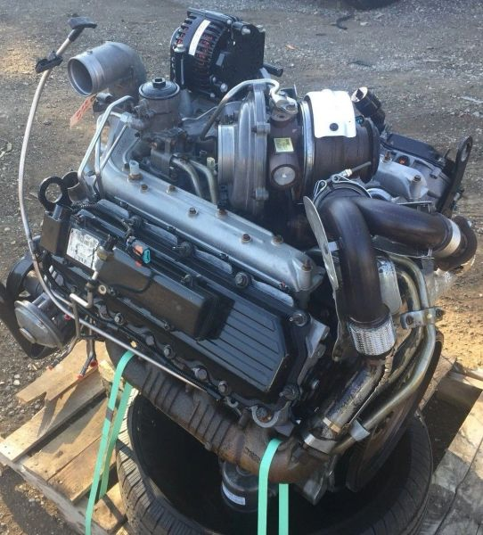 FORD DIESEL 6 0 ENGINE NOTHING STRIPPED OFF *COMPLETE DROP IN*