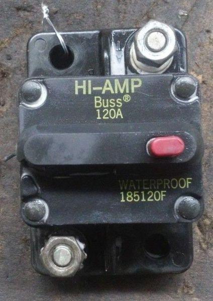 BUSS HIGH AMP WATERPROOF RELAY 120A 185120F