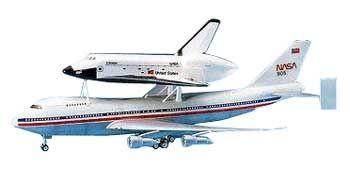 Academy 12708 Space Shuttle /& 747 Transport 1//288 Bnib