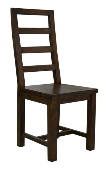 FSC Salvaged Timber Tall Ladderback Dining Chair in coffee bean