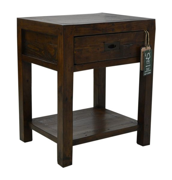 Coventry Lamp Table in coffee bean
