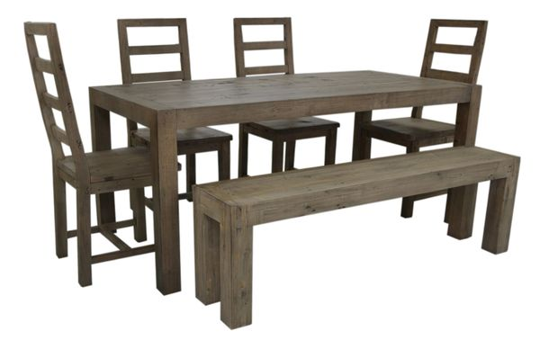 FSC Coventry Large Dining Bench in salvage grey